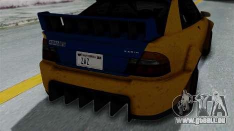 GTA 5 Karin Sultan RS Rally PJ für GTA San Andreas Rückansicht
