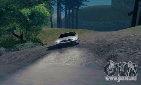 BMW M5 E34 pour GTA San Andreas vue de dessus