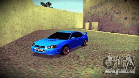 Subaru Impreza WRX STi Civil pour GTA San Andreas vue intérieure
