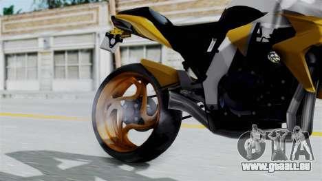 Honda CB1000R v2 pour GTA San Andreas vue de droite