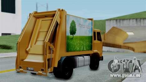 FAP Đubretarski Truck pour GTA San Andreas laissé vue