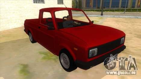 Zastava Poly 1.1 pour GTA San Andreas vue arrière