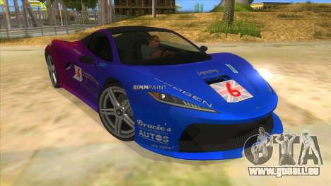 GTA 5 Progen T20 Styled version für GTA San Andreas Rückansicht