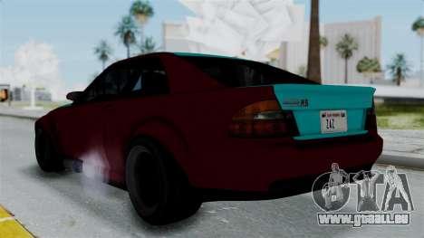 GTA 5 Karin Sultan RS Stock pour GTA San Andreas laissé vue