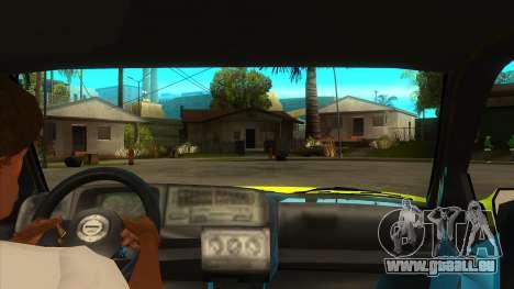VW Golf Mk3 Top Speed Auto Skola für GTA San Andreas Innenansicht