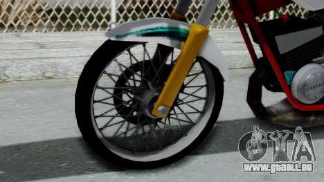 RX- King Putih pour GTA San Andreas sur la vue arrière gauche