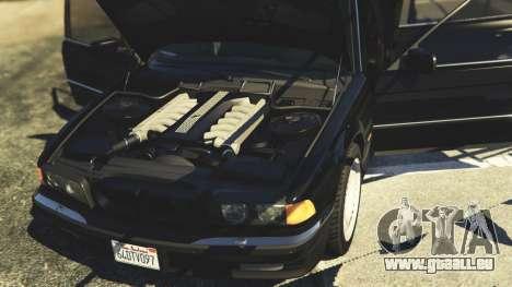 GTA 5 BMW 750i (e38) arrière droit vue de côté