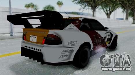 GTA 5 Karin Sultan RS Drift Big Spoiler PJ für GTA San Andreas Unteransicht