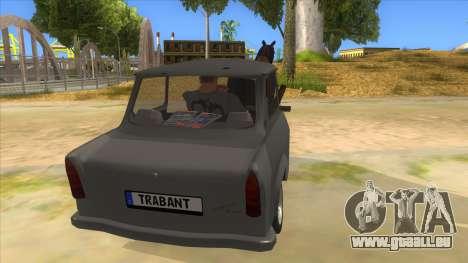 Trabant with Horse pour GTA San Andreas vue intérieure