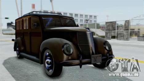 Lincoln Continental 1942 Mafia 2 v1 für GTA San Andreas Innenansicht