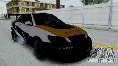 GTA 5 Karin Sultan RS Drift Big Spoiler PJ pour GTA San Andreas vue intérieure