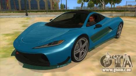 GTA 5 Progen T20 Styled version pour GTA San Andreas vue intérieure