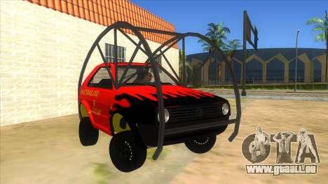 Volkswagen Golf MK2 RollGolf für GTA San Andreas Rückansicht