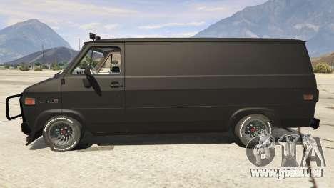 GTA 5 GMC Vandura (A-Team Van) vue latérale gauche