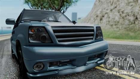 GTA 5 Albany Cavalcade v1 IVF pour GTA San Andreas vue arrière