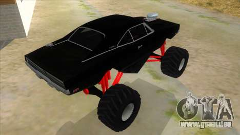 1969 Dodge Charger Monster Truck für GTA San Andreas rechten Ansicht