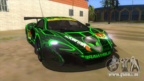 McLaren 650S GT3 Alien PJ pour GTA San Andreas vue arrière