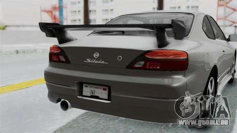 Nissan Silvia S15 Spec-R 2000 pour GTA San Andreas vue de côté