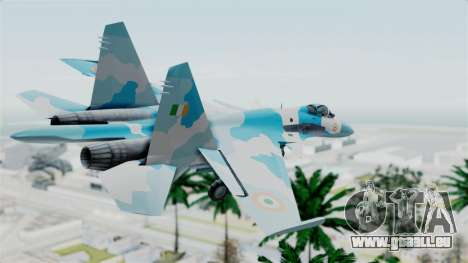 SU-37 Indian Air Force für GTA San Andreas linke Ansicht