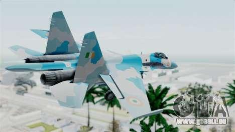 SU-37 Indian Air Force pour GTA San Andreas laissé vue