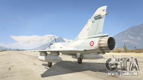 GTA 5 Dassault Mirage 2000-5 troisième capture d'écran