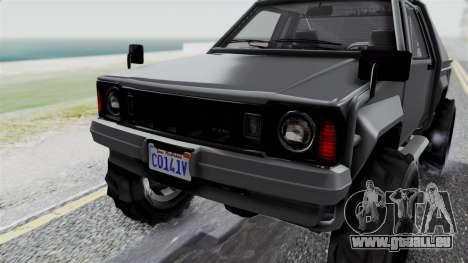 GTA 5 Karin Rebel 4x4 IVF pour GTA San Andreas vue de dessus