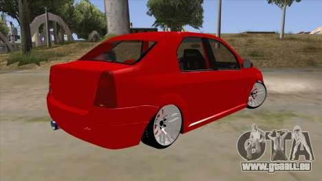 Dacia Logan für GTA San Andreas rechten Ansicht