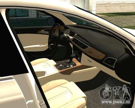 Audi RS7 Quattro für GTA San Andreas Rückansicht