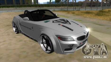 BMW Z4 Liberty Walk Performance Livery pour GTA San Andreas vue arrière