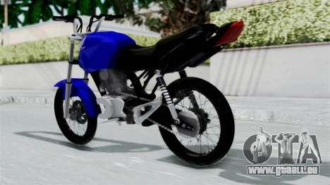 Honda CG Titan 2014 Stunt für GTA San Andreas linke Ansicht