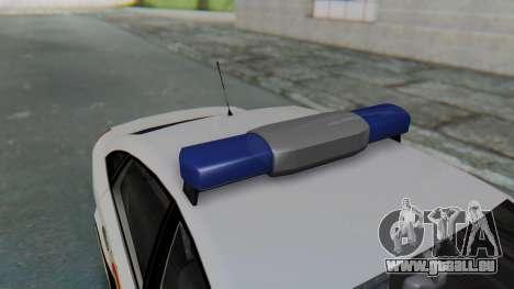 Opel Vectra 2005 Policia pour GTA San Andreas vue arrière