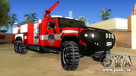 HUMMER H2 Firetruck für GTA San Andreas Rückansicht