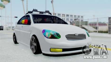 Hyundai Accent Essential Garage pour GTA San Andreas