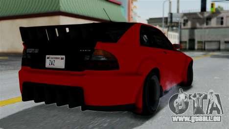 GTA 5 Karin Sultan RS Rally pour GTA San Andreas laissé vue