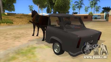 Trabant with Horse pour GTA San Andreas sur la vue arrière gauche