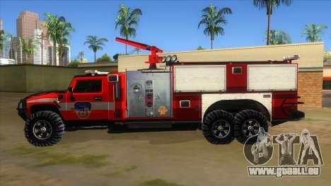 HUMMER H2 Firetruck für GTA San Andreas linke Ansicht