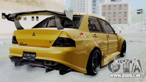 Mitsubishi Lancer Evolution IX MR Edition für GTA San Andreas linke Ansicht