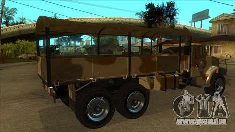 GTA V HVY Barracks OL pour GTA San Andreas vue de droite