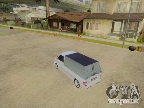 Volkswagen T4 Caravelle 35 Cup (1997) [Вездеход] pour GTA San Andreas vue intérieure