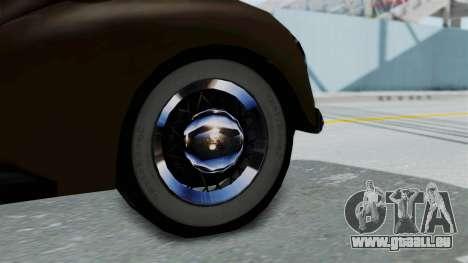 Lincoln Continental 1942 Mafia 2 v1 pour GTA San Andreas vue de droite
