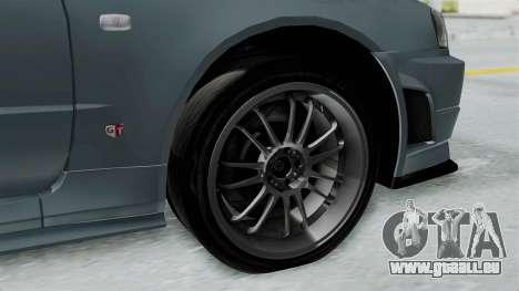 Nissan Skyline GT-R R34 2002 F&F4 für GTA San Andreas rechten Ansicht