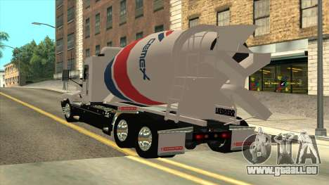 Kenworth T600 De Camion De Ciment pour GTA San Andreas laissé vue