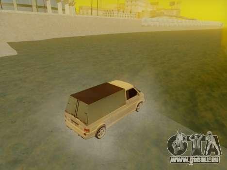 Volkswagen T4 Caravelle 35 Cup (1997) [Вездеход] pour GTA San Andreas laissé vue