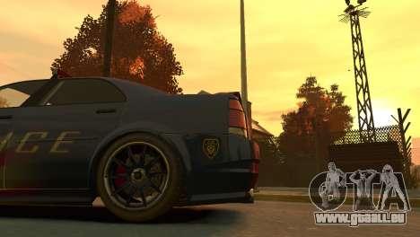 Albany Police Stinger pour GTA 4 Vue arrière