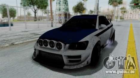 GTA 5 Karin Sultan RS Rally PJ für GTA San Andreas obere Ansicht