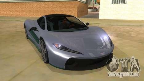 GTA 5 Progen T20 Lights version pour GTA San Andreas vue arrière