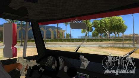 Jeep Pick Up Stylo Colombia pour GTA San Andreas vue intérieure