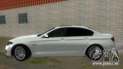 BMW 530XD F10 pour GTA San Andreas laissé vue