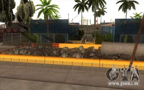Des travaux de réparation sur Grove Street pour GTA San Andreas deuxième écran