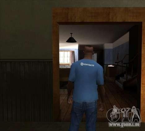 T-Shirt VKontakte pour GTA San Andreas deuxième écran